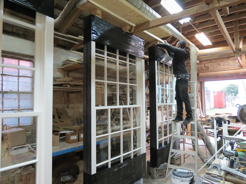 Building windows in the shop
